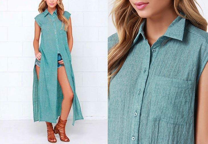 Camiseta larga tipo vestido