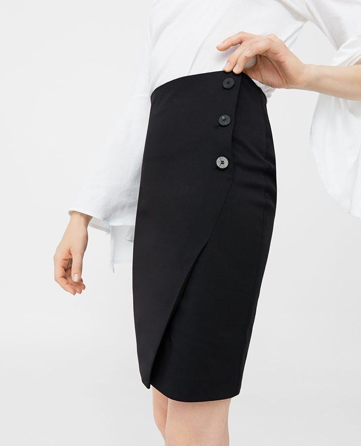 b4e09fe49 Cómo combinar las faldas de tubo